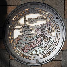 In Japan, Manhole Covers Are Canvases for Public Art //what a wonderful little thing!