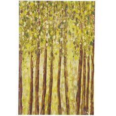 Birch Trees Wall Art - Green