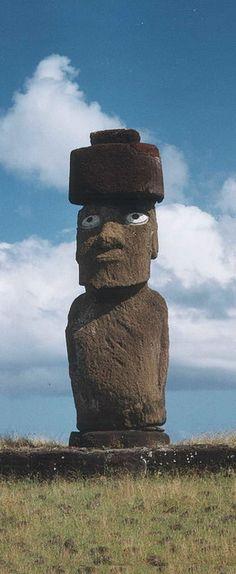 Moai - birthday inspiration. Easter Island themed party
