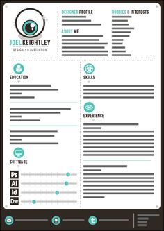 creative graphic designer CV template that includes a tree and ...