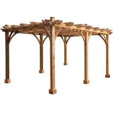 Outdoor Living Today BREEZE PERGOLA Natural Cedar Wood Freestanding Pergola at Lowe's. Take your backyard to a whole new level with the 12 ft. x 20 ft. Cedar Pergola, Garage Pergola, Building A Pergola, Pergola Canopy, Pergola With Roof, Wooden Pergola, Covered Pergola, Backyard Pergola, Courtyards