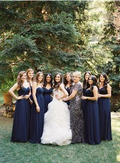 So Elegant Bridesmaid Dress, Navy Blue , I love the color.