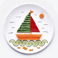 Vegetable Decoration, Food Decoration, Cute Snacks, Cute Food, Food Crafts, Diy Food, Toddler Meals, Kids Meals, Food Art For Kids
