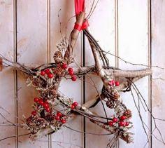1000 Manualidades fáciles: Estrella decorativa para Navidad