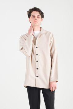 Menswear | Bamboo Summer Overshirt, Beige