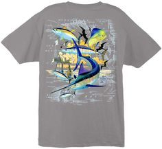 Guy Harvey Shirts - Guy Harvey Oil Rig Collage Men's Back-Print Tee w/ Pocket in White, Aqua Blue or Graphite, $18.95 (http://www.guyharveyshirts.com/guy-harvey-atlantic-oil-rig-collage-mens-back-print-tee-w-pocket-in-white-aqua-blue-or-graphikte/)