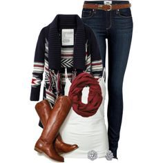 Great sweater and boots!