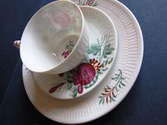 Germany Vintage Cup & Saucer A. Warnecke Ostfriesland Friesenrose handpainted