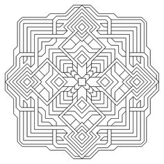 images of printable hard geometric coloring pages Geometric Shapes