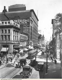 VM94-Z1820/-rue Ste-Catherine et Stanley,1928 Montréal.