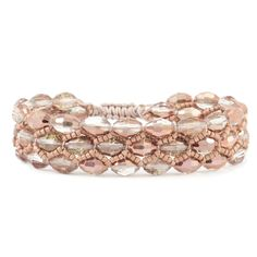 Chan Luu - Copper Crystal Single Bracelet on Misty Rose Cord, $65.00 (http://www.chanluu.com/bracelets/copper-crystal-single-bracelet-on-misty-rose-cord/)
