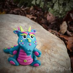 Polymer Clay Dragon 'Amoré'  Limited Edition, Handmade Collectible by KatersAcres