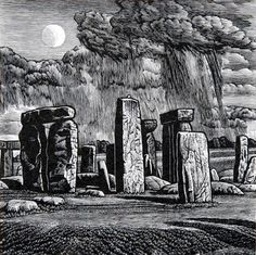 Howard Phipps - A Rising Moon, Stonehenge