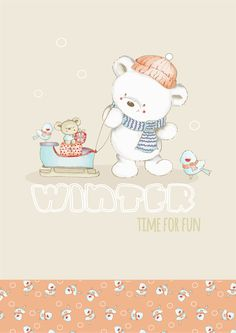 Ilustration so cute! Baby Painting, Painting For Kids, Kids Prints, Baby Prints, Bear Cartoon, Cute Cartoon, Baby Posters, Winter Wallpaper, Girls In Panties