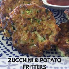 Zucchini and Potato Fritters - Recipe For Your Thermomix Potato Vegetable, Vegetable Dishes, Vegetable Recipes, Banana Bread Gf, Savoury Slice, Lemon Soup, Breastfeeding Snacks, Potato Fritters, Savoury Baking