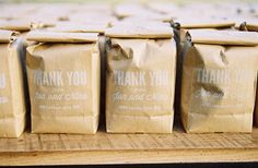 coffee wedding favors. Exactly what everyone would expect from me! LOVE! ✨