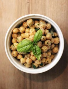 CHICK PEA SALAD WITH FRESH HERBS AND LEMON