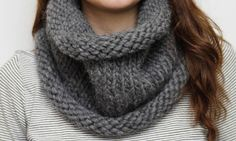 How to Make a Chunky Snood: Cozy knit in chunky alpaca yarn.