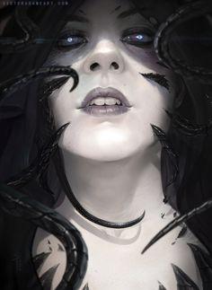 Gaze of the Gorgon, Victor Adame on ArtStation at https://www.artstation.com/artwork/gaze-of-the-gorgon