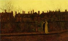 In the Golden Gloaming - John Atkinson Grimshaw
