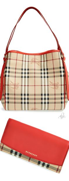 Burberry ~ Small Canter in Haymarket Check Tote 2015