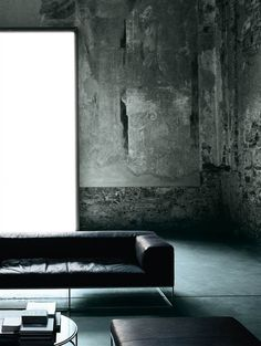 Visions of an Industrial Age: + #leather #concrete