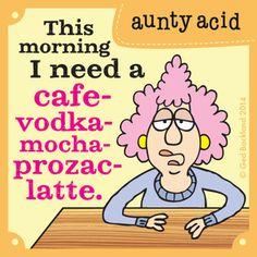 Today on Aunty Acid - Comics by Ged Backland Aunty Acid, Haha Funny, Funny Jokes, Funny Stuff, Hilarious, Funny Minion, Funny Man, Funny Shit, Senior Humor
