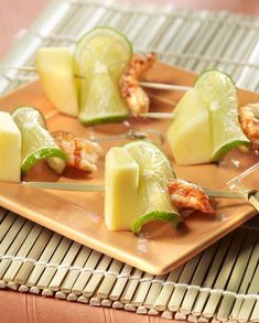Foie Gras, Cantaloupe, Mango, Cheese, Snacks, Fruit, Ethnic Recipes, Food, Recipe