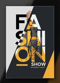 31 Ideas fashion show logo design behance Creative Poster Design, Graphic Design Trends, Graphic Design Posters, Logo Design, Fashion Graphic Design, Diy Design, Poster Layout, Typography Layout, Typography Poster