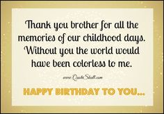 Birthday Wishes for Brother-1