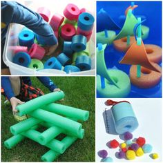 Fun pool noodle activities for summer
