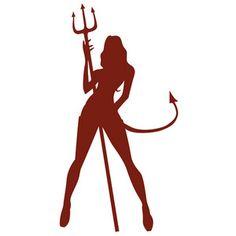 733) Devil Girl Silhouette - Polyvore