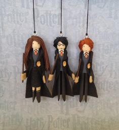 Harry Potter Clothespin Doll Ornaments