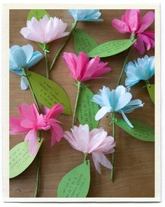 Flower invitations. Not sure how to mail these, but cute idea