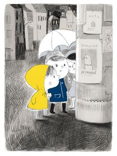 Rainy day by #Isabelle_Arsenault