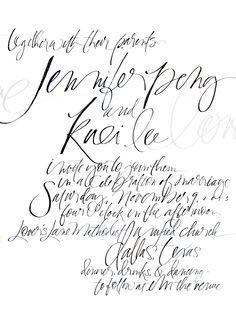 www.juliesongink.com #typography #lettering #script