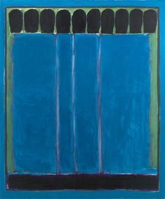 José Guerrero, Intervalos azules (1971). En el Centro José Guerrero de Granada.  Junto a la capilla real. Genial la rehabilitación del edificio y la cristalera de la última planta.