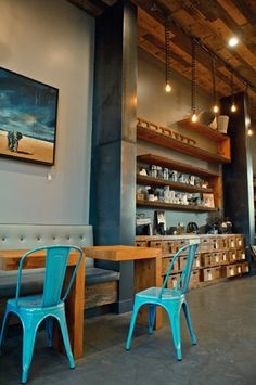 Verve Coffee Roasters - great industrial styling and great materials