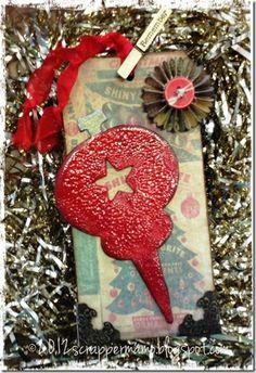 old-fashioned broken glass ornament