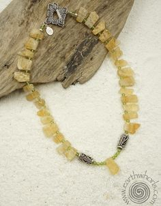 Citrine, Peridot, Hill Tribe & Sterling Silver Necklace