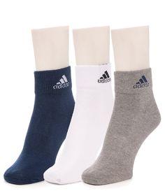 Adidas Men's Flat Knit - Quarter turn around welt Socks - 3 pair pack Go Hiking, Crew Socks, Adidas Men, Pairs, Flats, Knitting, Stuff To Buy, Shopping, Loafers & Slip Ons