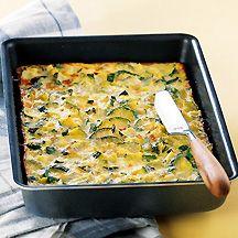 Tarte aux courgettes sans pâte - WW