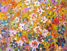 Original art for sale at UGallery.com | Summer Flowers by Natasha Tayles | $550 | acrylic painting | 24' h x 18' w