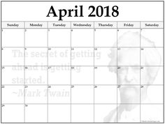 March  Printable Quote Calendar Template A Person Who WonT