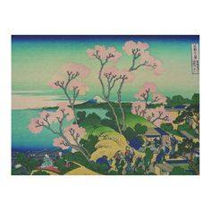 Hokusai Goten-Yama Hill Shinagawa Cotton Linen Tablecloth 52