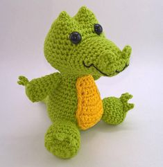 Broad-snouted Caiman Amigurumi Pattern  Brazilian Jungle