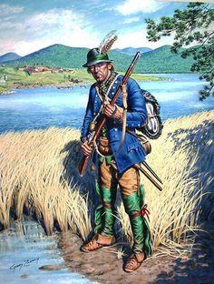 British; Massachusetts Provincial serving as a ranger by Gary Zaboly.