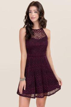 Jacquelyne Lace Halter Dress