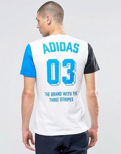 adidas Originals | adidas Originals Boldpanel T-Shirt In White AZ1049