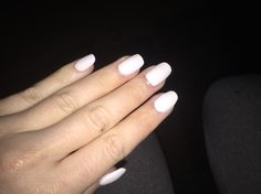 Did my own acrylic nails with matte white and half oval/half square shaping. Total for all project of mani/pedi: $13!